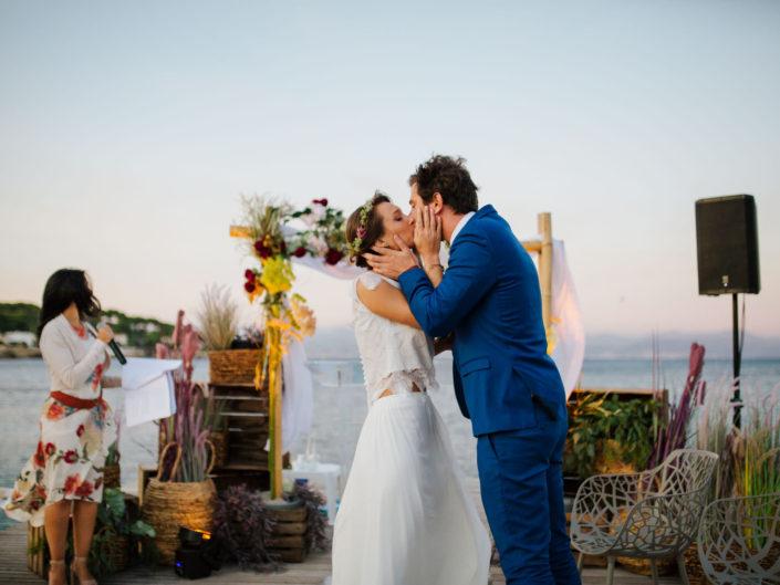 Un mariage sur la plage à Antibes